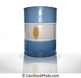 argentin, baril, drapeau