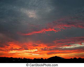 arkansas, coucher soleil