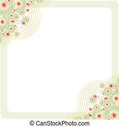 armature espace, copie, floral