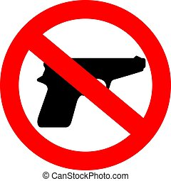 arme, non, signe