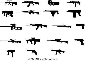 armes, différent