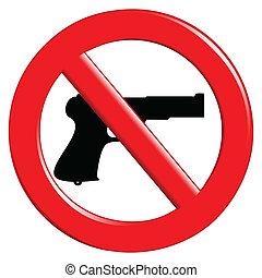 armes, interdit, signe