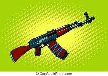 armes, soviétique, automatique, akm