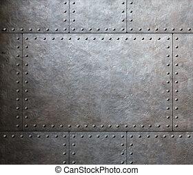 armure, plaques, métal, fond