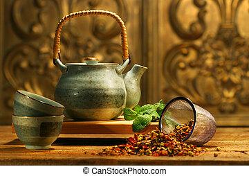 aromate, asiatique, thé