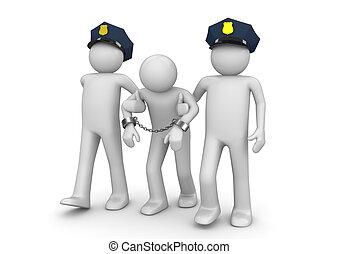 arrêté, hors-la-loi, -, légal, collection