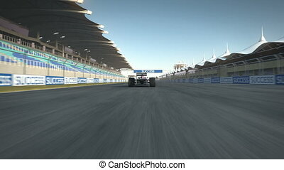 arrêt, f1, racecar
