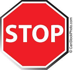arrêt, illustration, signe