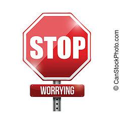 arrêt, illustration, signe, conception, s'inquiéter, route
