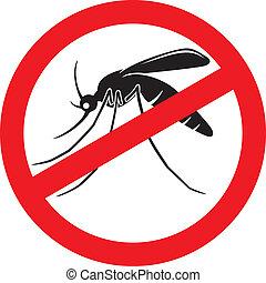 arrêt, moustique, signe