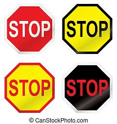 arrêt, route, variation, signe