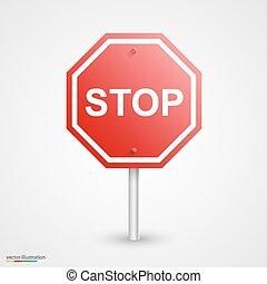 arrêtez panneau signalisation