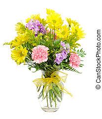 arrangement fleur, coloré, bouquet