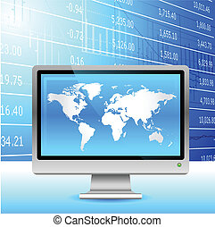 arrière-plan., économie globale