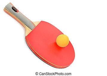 arrière-plan., équipement, tennis, table, isolé, blanc