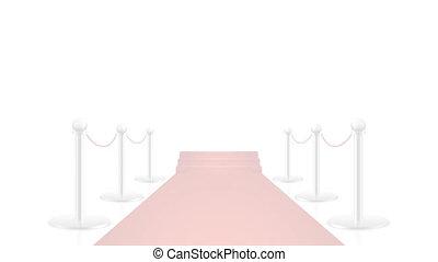 arrière-plan animation, blanc, transparent, moquette rouge