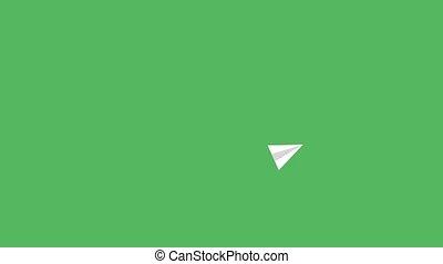 arrière-plan animation, isolé, blanc, copie, spirale, espace vert, voler, papier, fusée