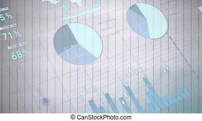 arrière-plan animation, statistiques, blanc