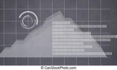 arrière-plan animation, statistiques, gris
