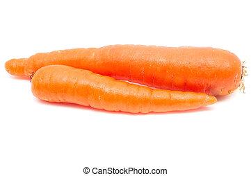 arrière-plan., blanc, carotte, isolé