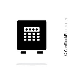 arrière-plan., blanc, sûr, électronique, icône