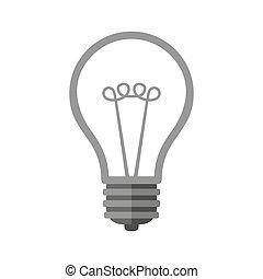 arrière-plan., blanc, vecteur, icône, ampoule