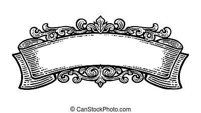 arrière-plan., blanc, vecteur, isolé, ruban