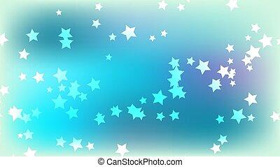arrière-plan bleu, espace, résumé, illustration, multicolore, stars., clair, vecteur, arrière-plan., étoiles, coloré
