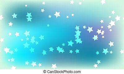 arrière-plan bleu, espace, résumé, multicolore, stars., clair, étoiles, coloré