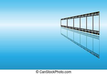 arrière-plan bleu, filmstrip