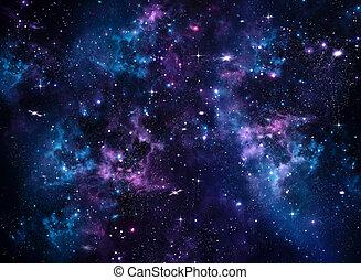 arrière-plan bleu, galaxie, résumé