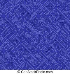 arrière-plan bleu, résumé, bo, -, élevé, vecteur, technologie, circuit, puce