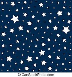 arrière-plan bleu, simple, modèle, profond, étoiles, blanc