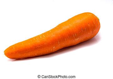 arrière-plan., carotte, isolé, blanc