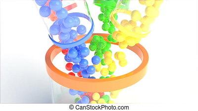 arrière-plan., coloré, fond, lotto., réaliste, loto, loto, design., concept, résumé, rouges, balles, balls., coloré, automne, isolé, verre., loto