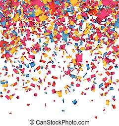 arrière-plan., confetti, célébration