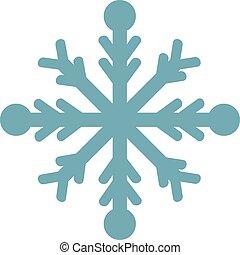 arrière-plan., flocon de neige, vecteur, blanc, illustration