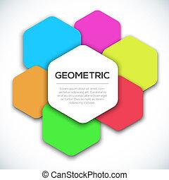 arrière-plan., géométrique, résumé, coloré