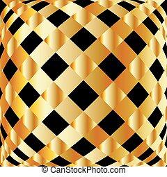 arrière-plan grille, doré