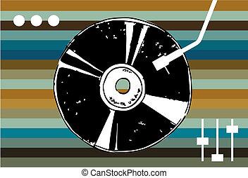 arrière-plan., musique, disco