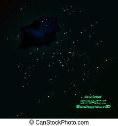 arrière-plan., nébuleuse, illustration espace, stars., vecteur, briller