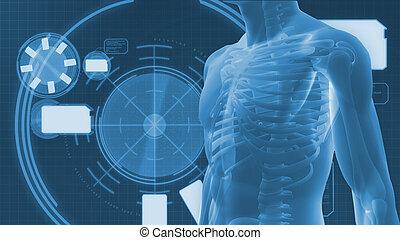 arrière-plan numérique, corps