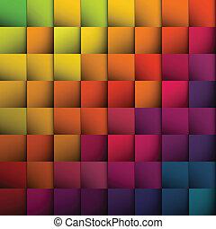 arrière-plan., résumé, carrés, vecteur, eps10