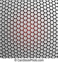arrière-plan., résumé, hexagones