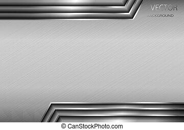 arrière-plan., résumé, métal, panel.
