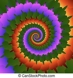 arrière-plan., résumé, vecteur, eps10, spirale