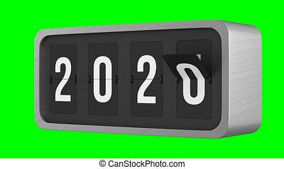 arrière-plan., render, noir, isolé, scoreboard, 2021, chiquenaude, 3d, vert