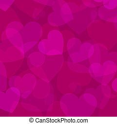 arrière-plan rose, coeur, résumé