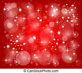 arrière-plan rouge, étoiles, noël