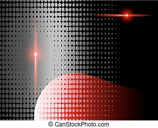 arrière-plan rouge, vecteur, texte